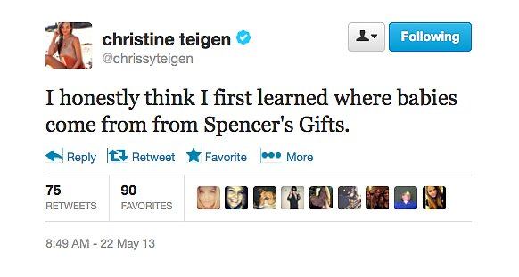 @chrissyteigen had an unusual sex ed experience.