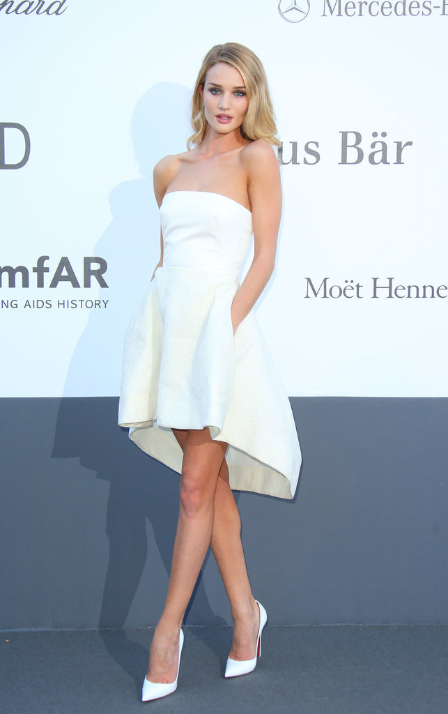 Rosie Huntington-Whiteley at the amfAR gala in Cannes.