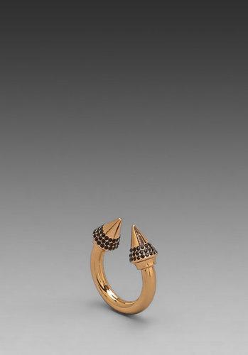 Vita Fede Titan Color Crystal Ring in Rosegold/Black