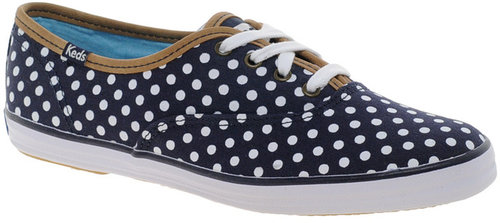 Keds Navy Polka Dot Sneakers