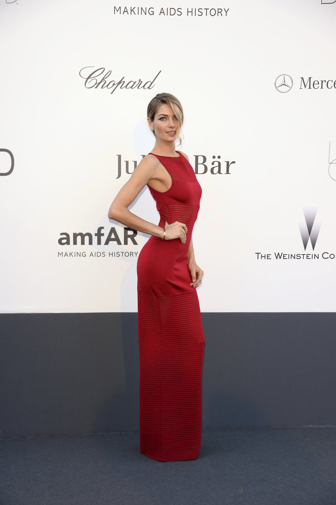 Jessica Hart at the amfAR gala in Cannes.