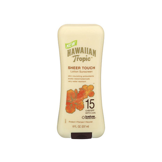 Sunscreens often get a bad rap for their smell, but Hawaiian Tropic Sheer Touch Sunscreen Lotion ($8) has a tropical fragrance that will make you feel like you're on vacation . . . wherever you are.