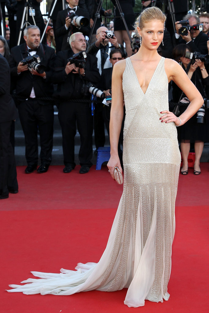 Erin Heatherton in Roberto Cavalli at the Cannes premiere of Behind the Candelabra.