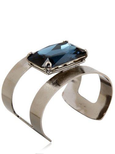 Rocks Brass And Crystal Cuff