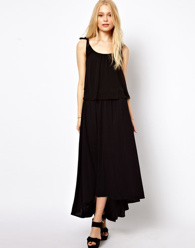 B+ab b + ab Maxi Dress With Double Layer Detail