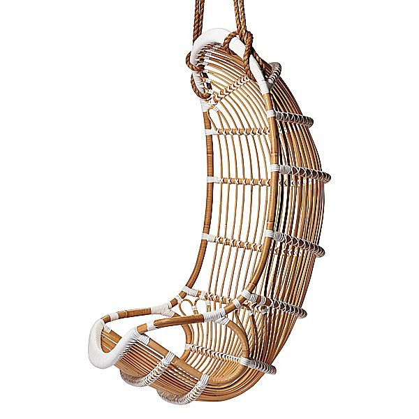 Nothing beats the classic retro Double Hanging Rattan Chair ($695) silhouette. This version is accented with white banding and includes twice the rope for even more support.