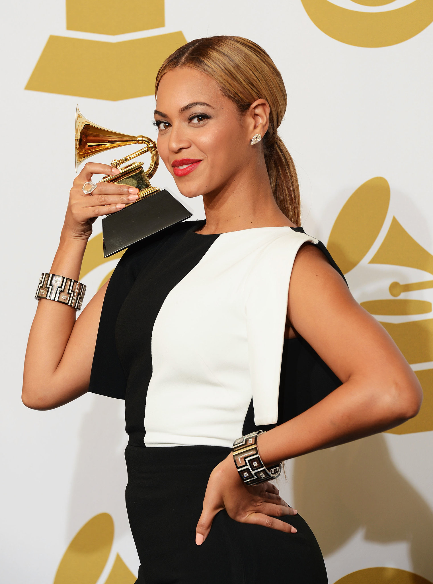 "In February, Beyoncé picked up a Grammy for ""Love on Top"" in February and cheered on Jay Z during his performance with Justin Timberlake."