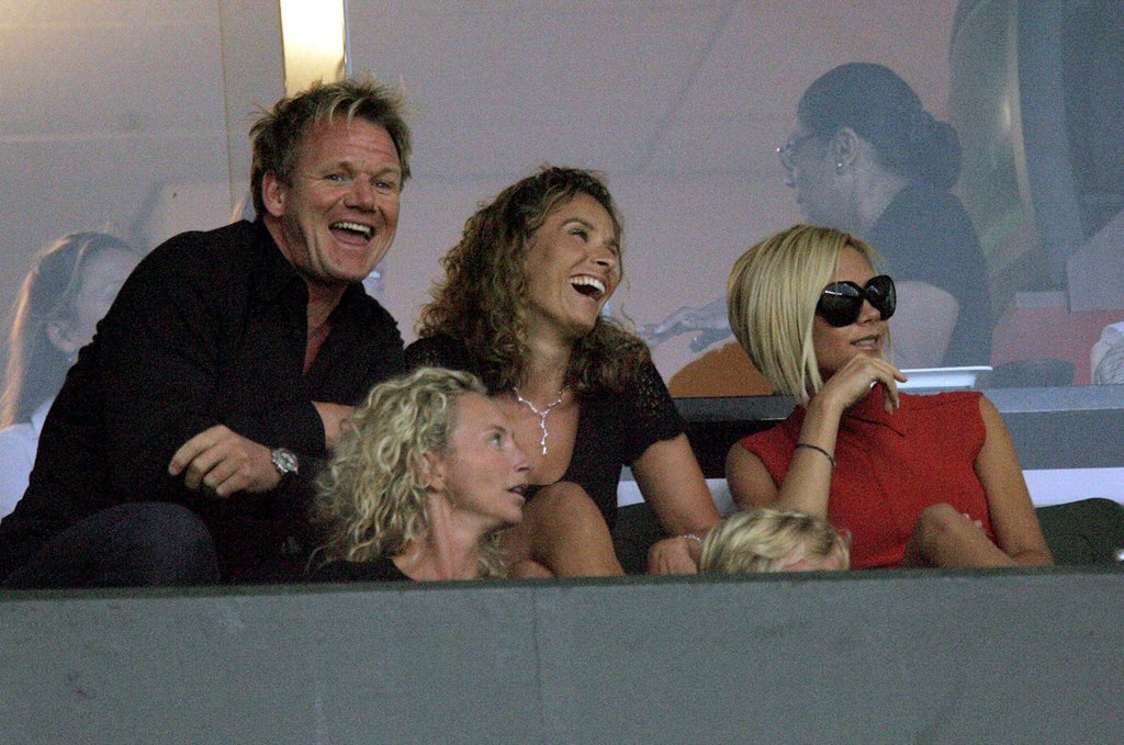 Victoria Beckham hung out in the stands with Gordon Ramsay and wife Tana for a match against Chivas USA in August 2007.