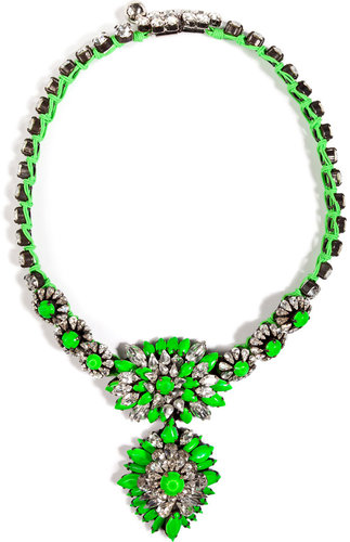 Shourouk Cora Zambia Necklace in Neon Green