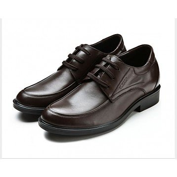 Black/Brown Cow Oxfords elevator shoes with hidden height lift grow taller 6cm / 2.36inches
