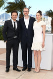 Marion Cotillard posed with Jeremy Renner and James Gray.