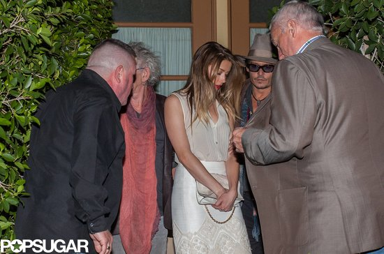 Johnny Depp and Amber Heard dined out with Keith Richards.