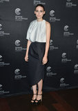 At the Ain't Them Bodies Saints photocall at Cannes, Rooney Mara was impeccably chic in a two-toned Dior ensemble.