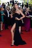Izabel Goulart got leggy on the red carpet at the premiere of The Immigrant on Friday.