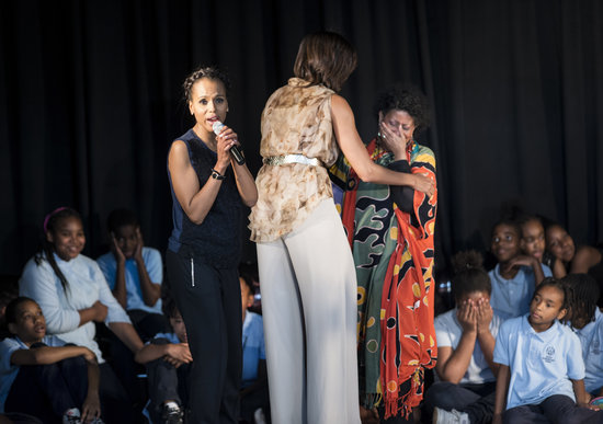 Kerry Washington and Michelle Obama honored art coordinator Carol Foster at the event.