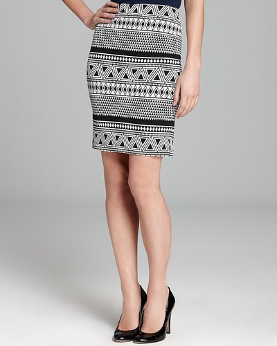 Karen Kane Geo Pencil Skirt