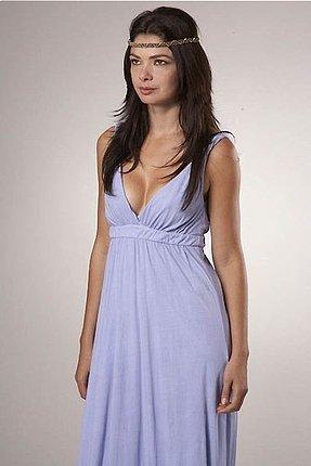 Gypsy 05 Organic Ombre Maxi Dress in Purple Lavender