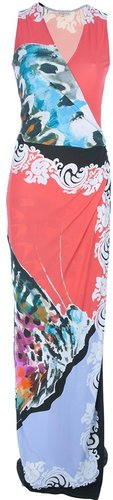 Etro sleeveless printed maxi dress