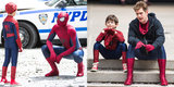 Too Cute! Andrew Garfield Meets His Mini Me on Set