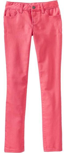 Girls Super Skinny Pop-Color Jeans