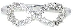 Cathy Waterman Twisted Ribbon Ring in Platinum and Diamonds