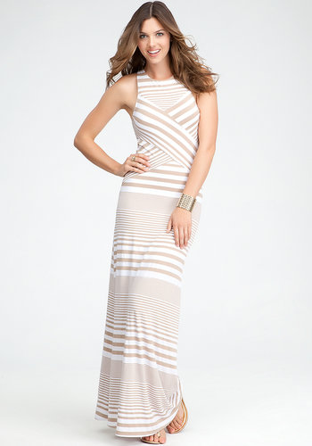 Mixed Striped Maxi Dress
