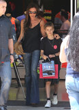 Victoria Beckham went shopping in LA with her son Romeo.