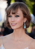 Karlie Kloss dazzled us with her smudged dark eyes and blow dried bob.