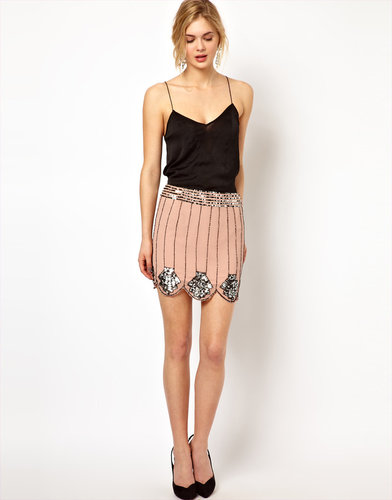 Frock and Frill Scallop Edge Skirt with Sequin Embellishment