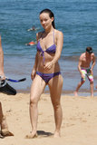 Olivia Wilde wore a printed bikini at the beach in Hawaii in May 2013 while holidaying with Jason Sudeikis.