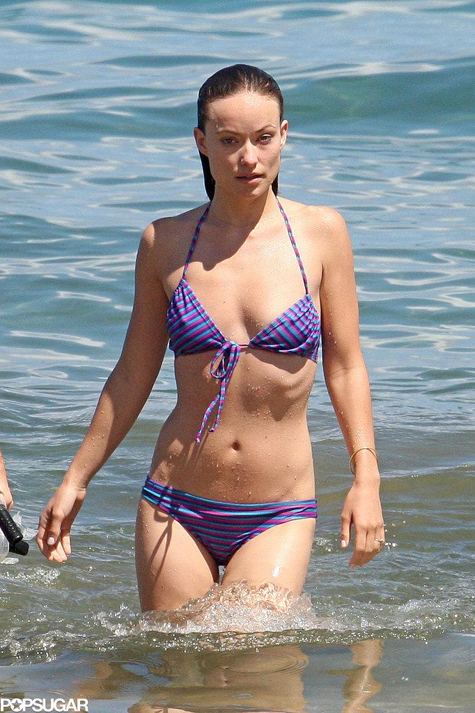 Olivia Wilde showed off her bikini body.