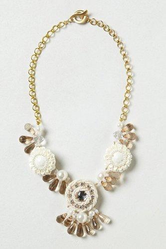 Winter Blossoms Bib Necklace