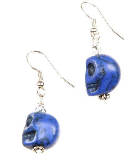 GinasOriginalAZ Blue Skull Earrings
