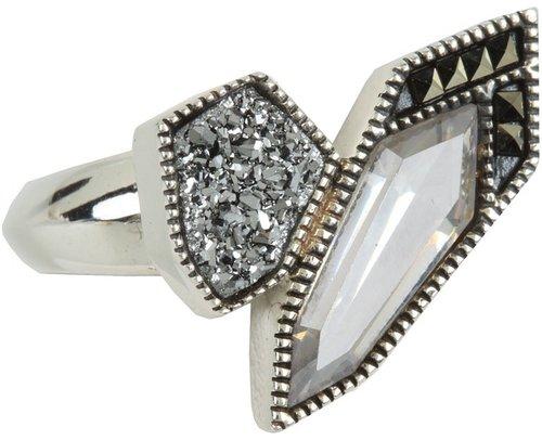Judith Jack - Color Cascade Ring (Black) - Jewelry