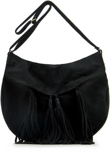 Tassel leather handbag