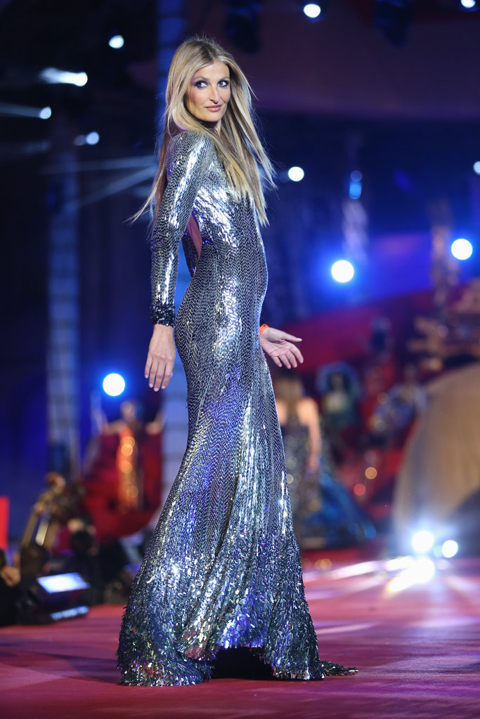 Tereza Maxova on the runway at the 2013 Life Ball in Vienna, Austria.