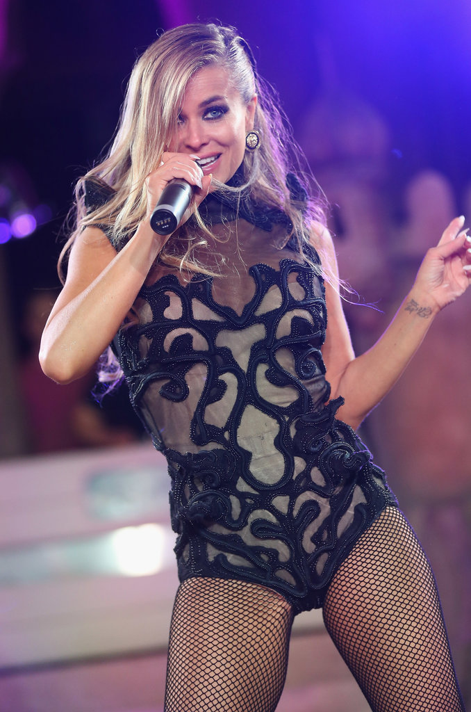 Carmen Electra performing at the 2013 Life Ball in Vienna, Austria.
