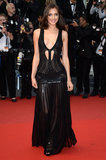 Irina Shayk put some serious skin on display in this Roberto Cavalli gown.
