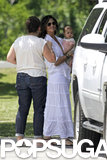 Camila Alves held onto her youngest child, Livingston.