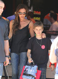 Victoria Beckham and Romeo were back in LA on Monday for Memorial Day shopping with the family.
