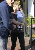 Shakira took her baby boy, Milan, out for lunch in LA.