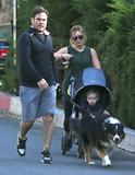 Hilary Duff and Mike Comrie took their family for a walk in LA on Saturday.