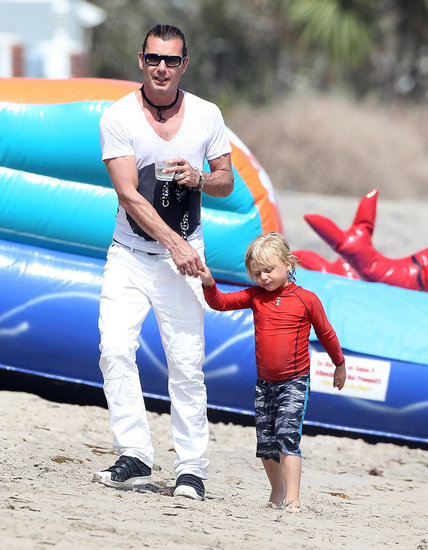 Gavin Rossdale held Zuma's hand on Monday while at Joel Silver's annual Memorial Day party in Malibu, CA.