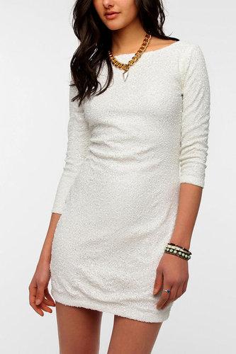 Glamorous 3/4 Sleeve Sequin Dress