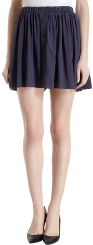 Thakoon Addition Gathered Button Front Skirt
