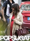 Pregnant Penélope Cruz Shows Her Bump in Bright Red