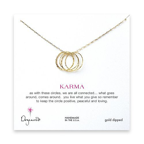 ethereal karma necklace, gold dipped