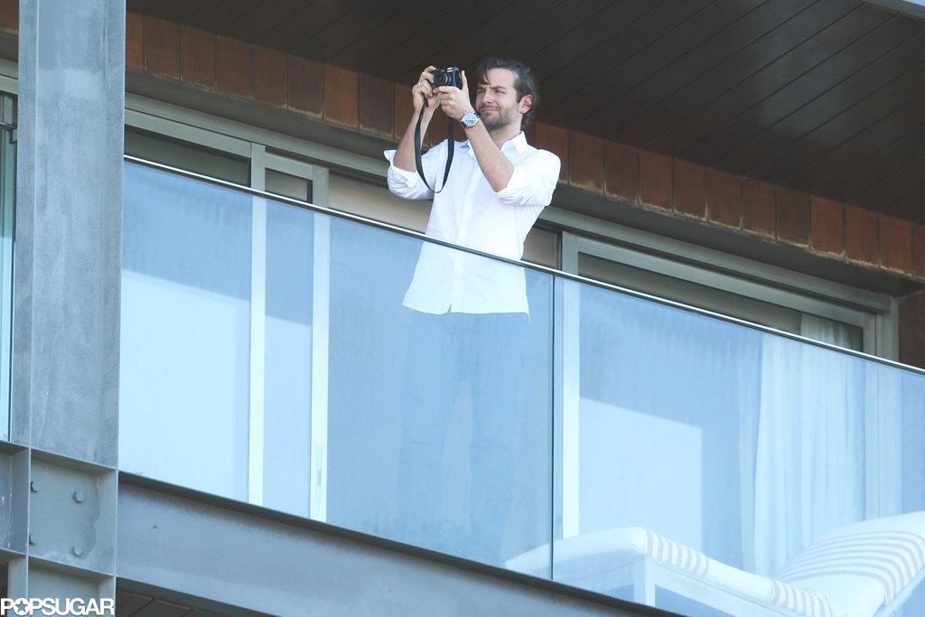 Bradley Cooper took photos of the view in Rio de Janeiro.