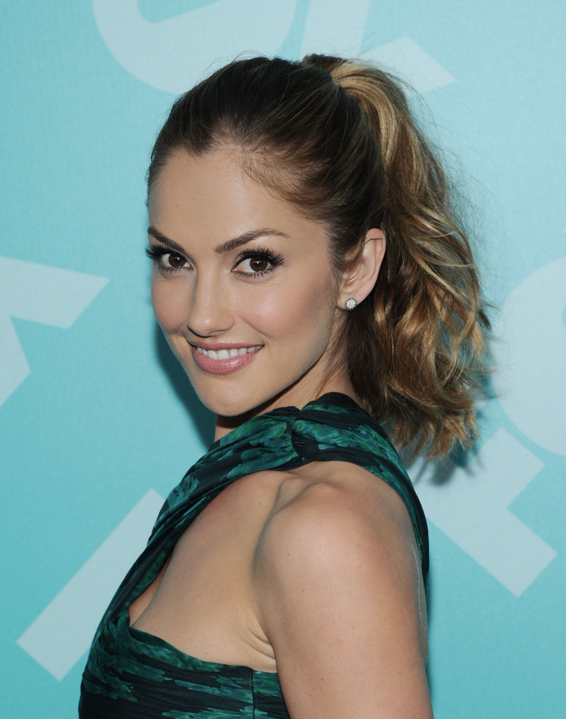 Minka Kelly's ombré hair color stands out best when her hair is styled in a high ponytail.
