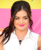 At the Kids' Choice Awards, Lucy Hale turned loose beach waves into a midheight ponytail. This is a perfect option for second-day curls that have gone flat.
